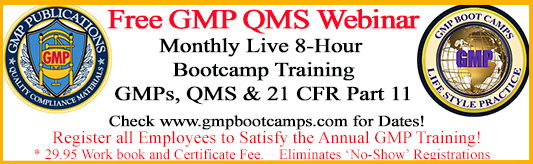 Free 8-Hour GMP QMS and Part 11 Webinar