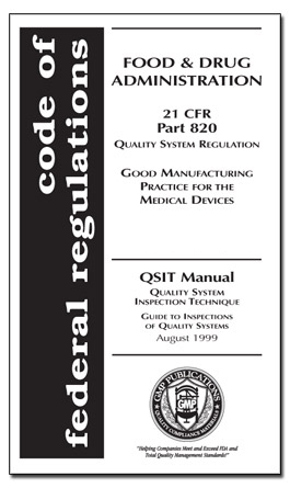 21 Cfr 820 With Medical Device Qsit Manual
