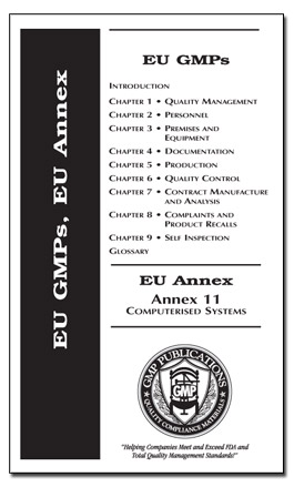 EU GMPs with Annex 11 Computerized Systems