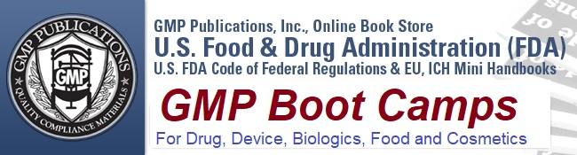 GMP Publications - Code of Federal Regulation Handbooks by the FDA